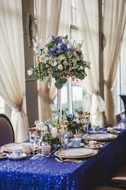 Gold Table Centerpieces by Marvellous Royal Blue And Gold Wedding Decorations 35 About