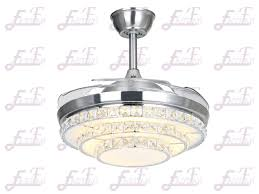 Retractable Ceiling Light East Fan 42inch Invisible Ceiling Fan With Light Item Ef42234