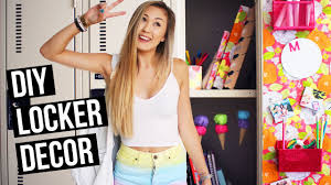 Locker Wallpaper Diy by Diy Locker Decorations For Back To 2015 Laurdiy Youtube