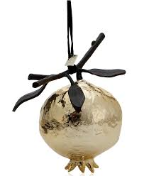 michael aram gold pomegranate ornament christmas ornaments for