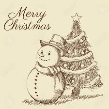pine tree snowman merry decoration celebration icon