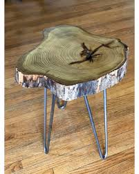 Accent Side Table Don T Miss This Deal Live Edge Coffee Table Of Locust Slab Wood