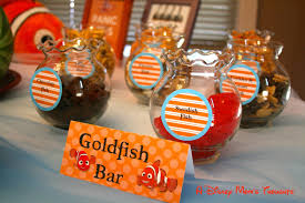 Finding Nemo Centerpieces by Finding Nemo First Birthday Party Food