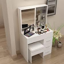 coiffeuse blanche si e avec miroir inclus coiffeuse meuble blanc maison design wiblia com