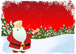 illustration of card with santa claus chararcter and