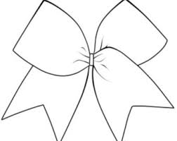 hair bow templates cheer bow outline drawing turkey disguise ideas