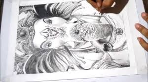 speed drawing ganesh ji my first time lapse video drawing