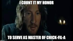 Chick Fil A Meme - faramir chick fil a meme zachary totah