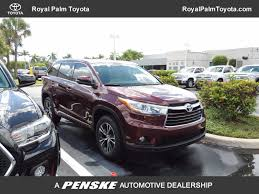 toyota highlander vs nissan pathfinder 2016 used toyota highlander fwd 4dr v6 xle at royal palm nissan