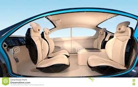 3d animation of autonomous car interior concept stock footage