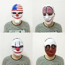 2016 1pc pvc scary clown mask halloween mask for antifaz party