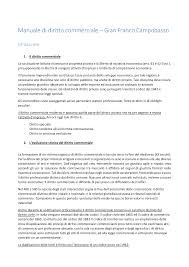 dispense diritto commerciale cobasso riassunti manuale di diritto commerciale cobasso 2016 docsity