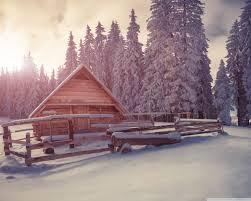 Winter Houses Winter Wooden Houses Under Snow 4k Hd Desktop Wallpaper For 4k