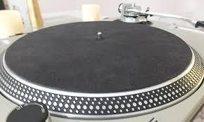 platter mat studio leather turntable platter mat black