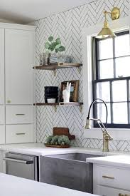 herringbone kitchen backsplash out subway tile herringbone might be the coolest new tile