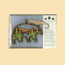 great smoky mountains association black wooden ornament