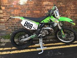 motocross bike finance kawasaki kx 125 2003 green road registered enduro motocross