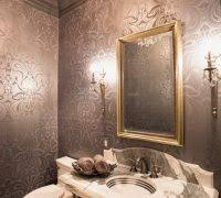 powder room wallpaper ideas powder room victorian with shiny