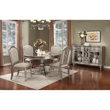 avalon furniture regency park dining table silver u0026 platinum