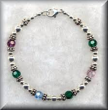 mothers birthstone bracelets of pearl designs handcrafted jewelry beaded