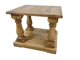 rustic pine end table large rustic pine end table tres amigos world imports large end