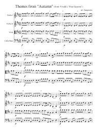 autumn writing paper autumn from vivaldi s four seasons for string orchestra musescore