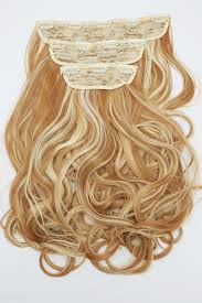 Tap In Hair Extensions by Curly Clip In Hair Extensions Honey Blonde Or Tanned Blonde