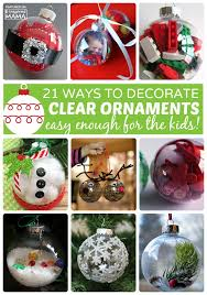 21 ornaments using clear ornaments