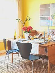 inspiring blue and yellow dining room ideas best inspiration