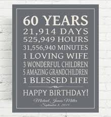 60 year birthday gifts digital print instant 11x14 and 16x20 back