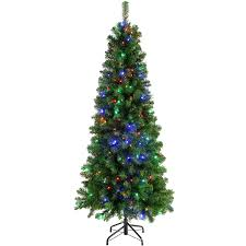 werchristmas pre lit slim christmas tree with 200 multi colour led