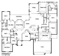 Bedroom Ranch House Plans Geisaius Geisaius - 5 bedroom house floor plans