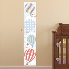 growth charts for children enchanted interiors hot air balloon kids growth chart neutral