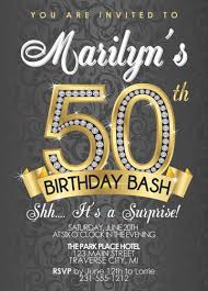 50th Birthday Invitation Cards Template Simple 50th Birthday Invites For Her With High Definition