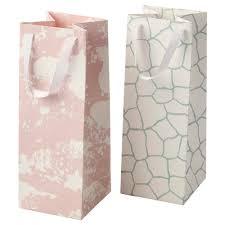 mångfald gift bag assorted patterns 12x32 cm ikea