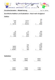 brüche addieren und subtrahieren übungen schriftliche addition und subtraktion klasse 5 matheaufgaben 5