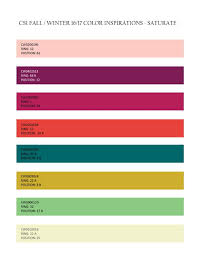 fall winter 2016 2017 color inspirations saturate ecolorworld