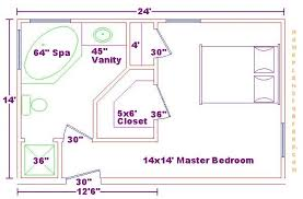 Decorative Small Master Bathroom Floor Plans Standard Size Master - Master bathroom design plans