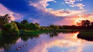 Kansas lakes images Lakes ducks creek sunset wichita kansas lake summer july cluds jpg