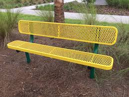 6 u0027 expanded metal park bench southern recreation