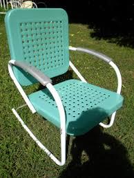elegant retro metal patio furniture with reserve for sandy vtg 50s