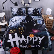 2017 new hallowmas bedding set pumpkin 3d bedding skull duvet