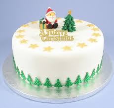 Christmas Cakes And Decorations by Christmas Cake Toppers