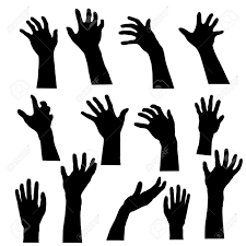 174 zombie silhouette vector stock illustrations cliparts and