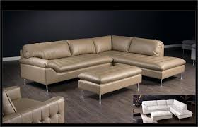 Leather Blend Sofa Avalon Leather Blend Sectional Sofa