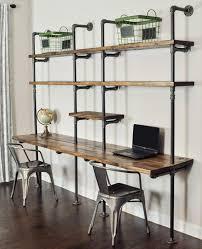 Desk Shelving Ideas Best 25 Pipe Desk Ideas On Pinterest Industrial Pipe Desk Diy