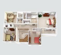 home plan 3d 25 more 3 bedroom 3d floor plans bedrooms and interior design