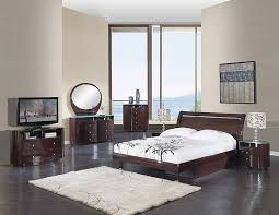 Wenge Bedroom Furniture Cosmo Bedroom Set In Wenge Furniture