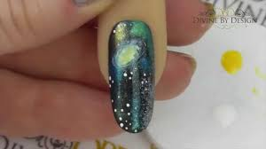 galaxy nail art gel polish shellac galaxy nails youtube