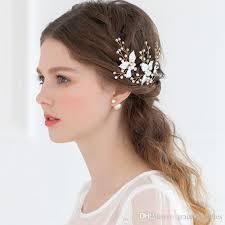 hair pieces for wedding cheap bridal hair accessories enamel leaf bob pins hair